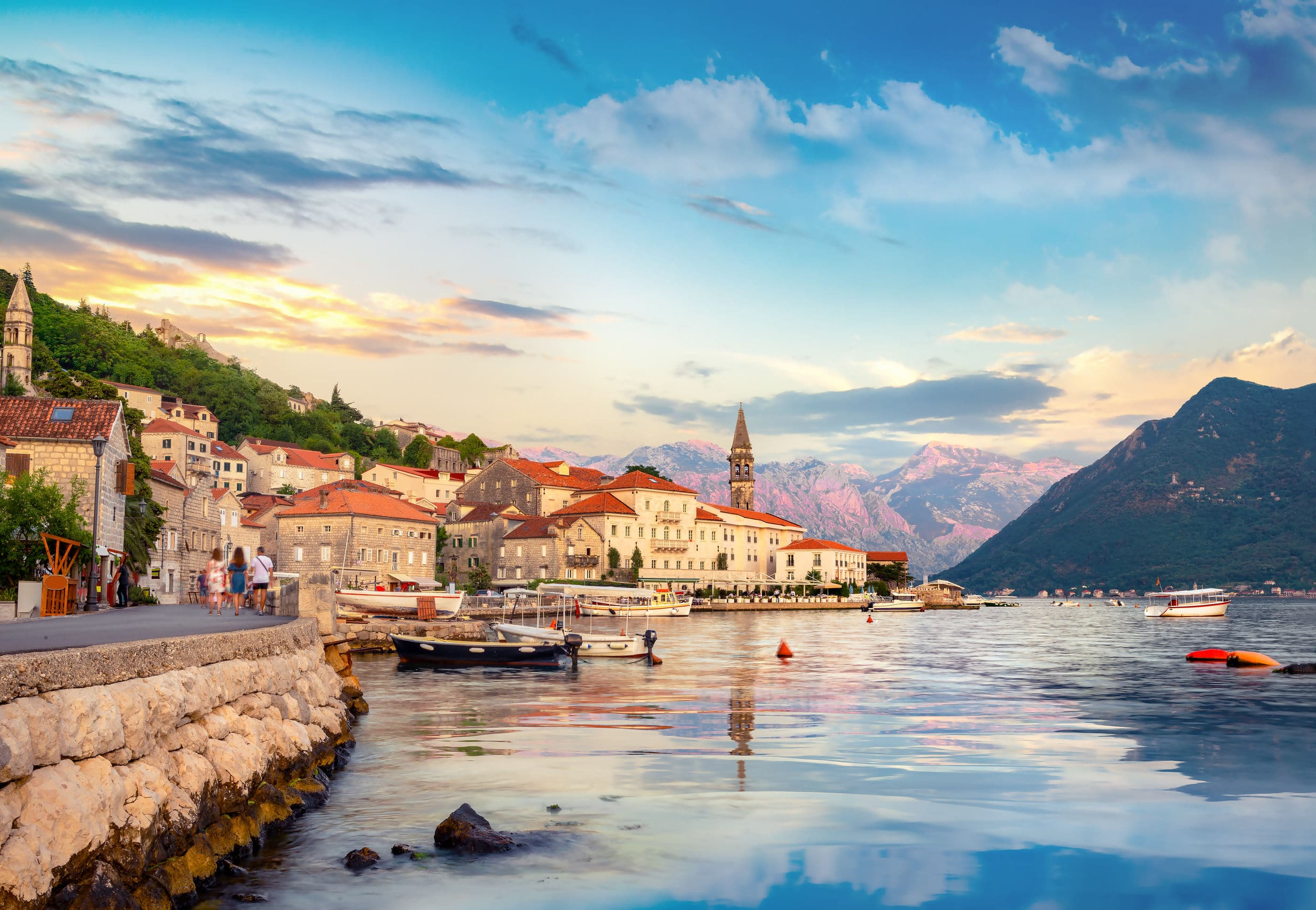 Perast and bay of Kotor